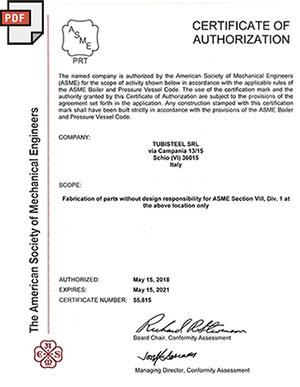 √ ASME PRT Designator Certification